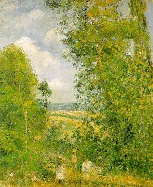 Pissarro Resting in the Woods at Pontoise 1878